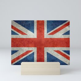 "UK British Union Jack flag ""Bright"" retro Mini Art Print"