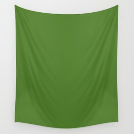 Sap green - solid color Wall Tapestry