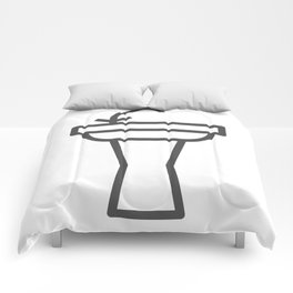 Faucet and sink bathroom elements in Design Fashion Modern Style Illustration Comforters