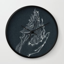Fire starter -inverted color Wall Clock