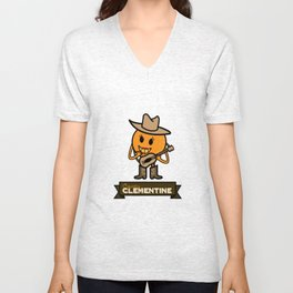 Country Clementine Unisex V-Neck