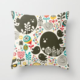 Big bird. Throw Pillow