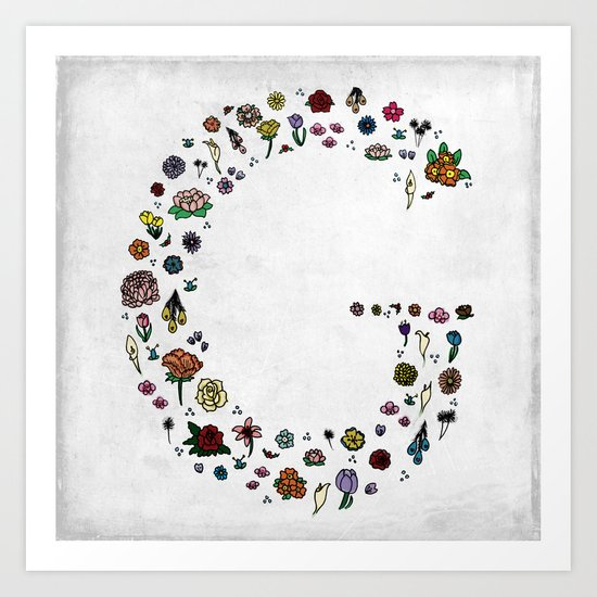 Letter G - Plants and Flower growth Art Print