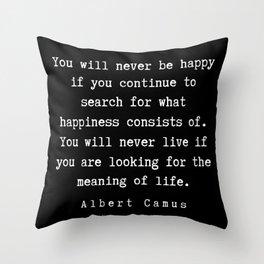 2  | Albert Camus Quotes | 190704 Throw Pillow