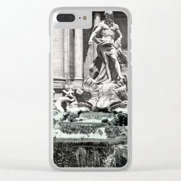 Trevi Fountain Rome Italy Clear iPhone Case