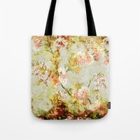 climbing Tote Bags featuring climbing flowers by clemm