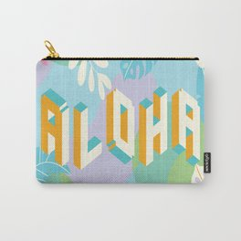 Pastel Aloha Typography Carry-All Pouch