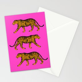 Tigers (Magenta and Marigold) Stationery Cards