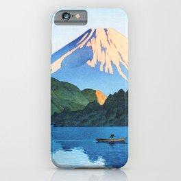 Kawase Hasui - Hakone, Ashino Lake - Digital Remastered Edition iPhone Case
