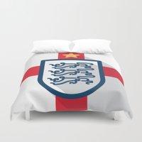 england Duvet Covers featuring England Minimal by Daniel Nyari