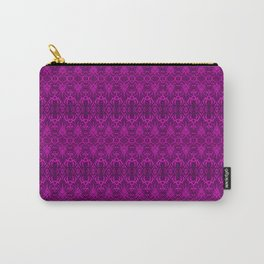 Magenta Damask Pattern Carry-All Pouch