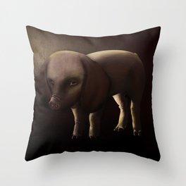 The Pigdog. Throw Pillow