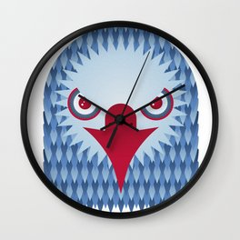 Geometric Eagle Wall Clock
