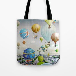 Ballooning over everywhere: Paris Tote Bag