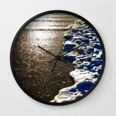 Golden Waves Wall Clock