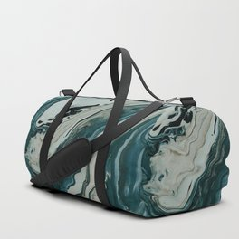 Tranquil Arctic Painting Marble Duffle Bag