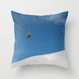 Chairlift Exchange Throw Pillow