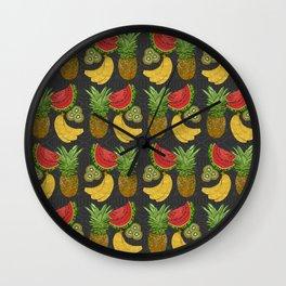 Tropical Fruit Salat Wall Clock