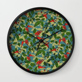 chillie (green and blue) Wall Clock