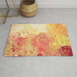 Autumn Rising -- Abstract in Fall Leaf Colors Rug