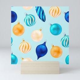 Christmas Bulbs Pattern Mini Art Print