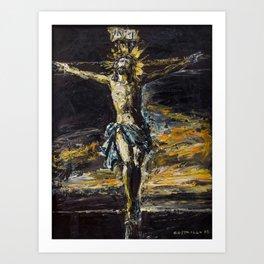 Santo Cristo de La Agonía. Limpias. Cantabria Art Print