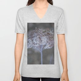 Frost Petals Of Hydrangea #decor buyart #society6 Unisex V-Neck