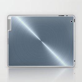Cold Blue Steel Machined Metal Laptop & iPad Skin