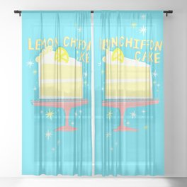 All American Classic Lemon Chiffon Cake Sheer Curtain