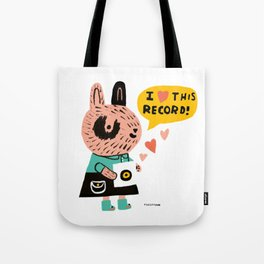I heart this record! Tote Bag