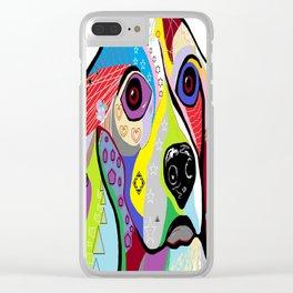 Beagle Close-up Clear iPhone Case
