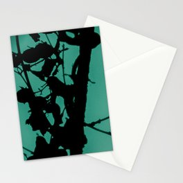 Teal Marbled Moon Stationery Cards