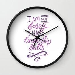 Feminist Quote - Not Bossy, Leadership Skills Wall Clock