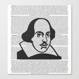 Words of Shakespeare Canvas Print