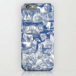 OVER 20 DOG BREEDS KENNEL - Classic Blue iPhone Case