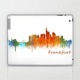 Frankfurt am Main, City Cityscape Skyline watercolor art v2 Laptop & iPad Skin