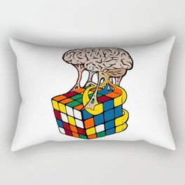 Cube Brain Rectangular Pillow
