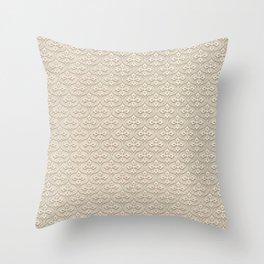 Blond Trellis Throw Pillow
