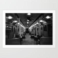 New York Subway Car #2 Art Print