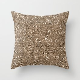 Glitters and Glitz Champagne Throw Pillow