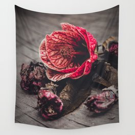 """Abutilon Decay """"Red Tiger"""" Wall Tapestry"""