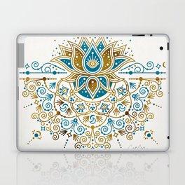 Sacred Lotus Mandala – Teal & Bronze Palette Laptop & iPad Skin