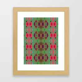 Pink and green marble Framed Art Print