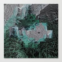 grid Canvas Prints featuring Grid by Leanne Miller