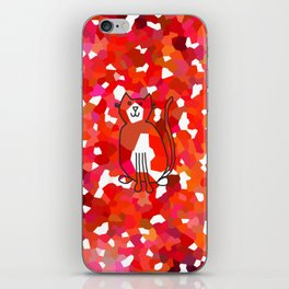 Crystal Cat - Red iPhone Skin