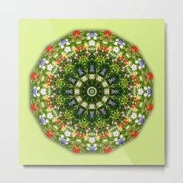 Wildflowers, Floral mandala-style, Flower Mandala Metal Print