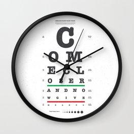 Come Closer Wall Clock