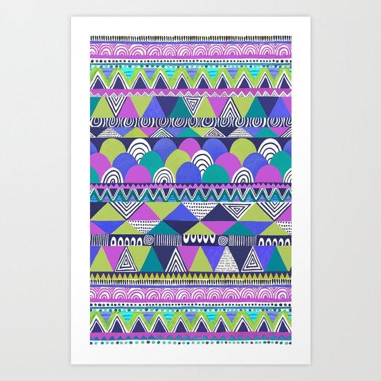 Cool Shades Geometric  Art Print