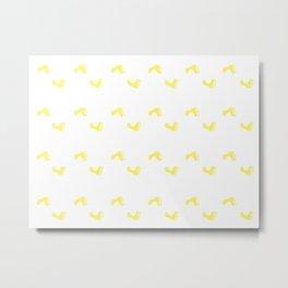 Walk On - Yellow Little Feet Pattern Metal Print