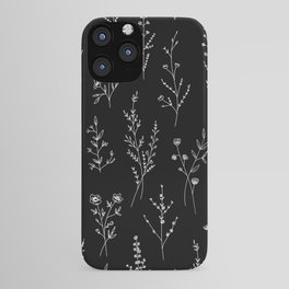 New Black Wildflowers iPhone Case